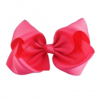 Oversized Ribbon Hair Bow - Hot Pink