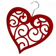 Heart Scarf Holder - Red
