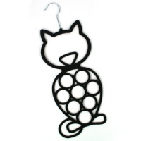 Cat Scarf Holder - Black