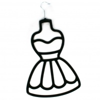 Dress Scarf Holder - Black