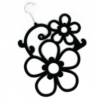 Flower Scarf Holder - Black