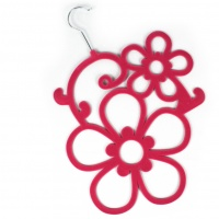 Flower Scarf Holder - Pink