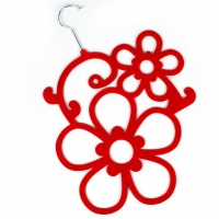 Flower Scarf Holder - Red