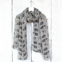 Sketched Sheep - Grey Scarf