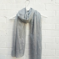 Sparkling Cats - Grey Scarf