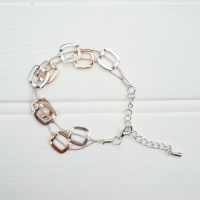 Square Friendship Bracelet - Rose Gold & Silver