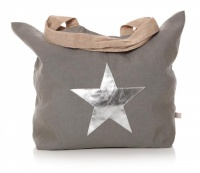 Star Shopper Bag - Natural