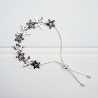 Star Friendship Bracelet - Chrome & Silver