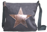 Star Messenger Bag - Grey & Rose Gold